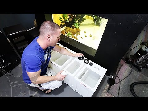 The new aquarium FILTRATION, PLUMBING and SETUP