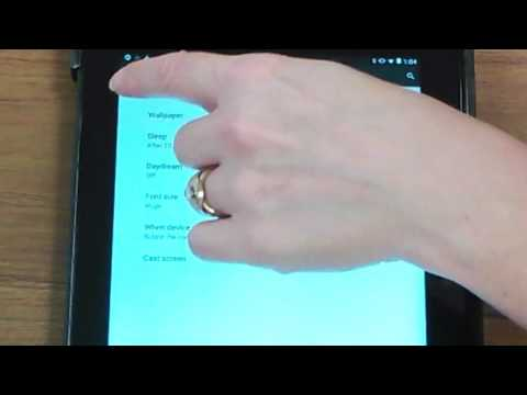 Changing Default Settings on the Android