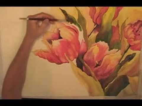 Paint Flowers in Watercolor - Watercolor Painting
