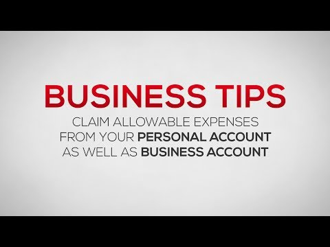 How to Claim Allowable Expenses from Personal Bank Account and Business Bank Accounts