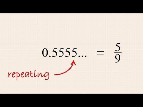 Pre-Algebra 20 - Converting Repeating Decimal Numbers to Fractions
