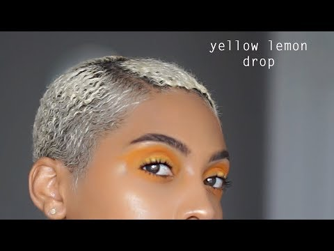 YELLOW simple summer / spring eyeshadow that pops easy for beginners J MAYO