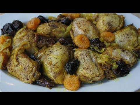Moroccan Braised Chicken with Dried Fruit