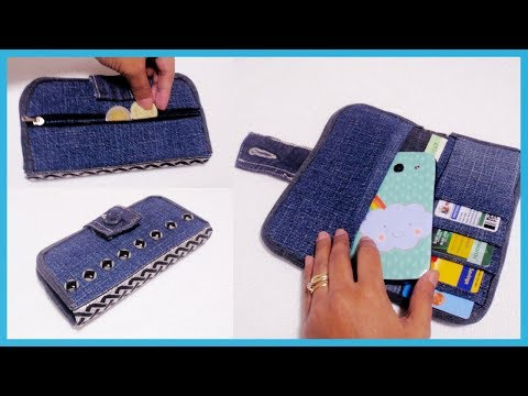 DIY Denim Wallet From Old Jeans  NO SEW *How to Make Your Own Wallet at Home