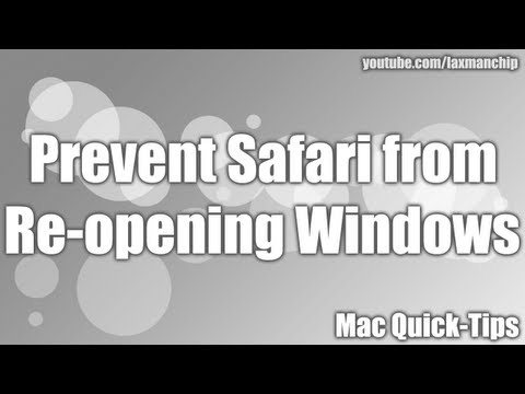 Prevent Safari from reopening windows