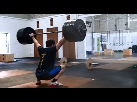 Clarence snatches 155kg, David block snatches 120kg - Training in Crossfit Tralee