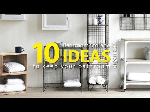 10 Bathroom Organization and Storage Ideas