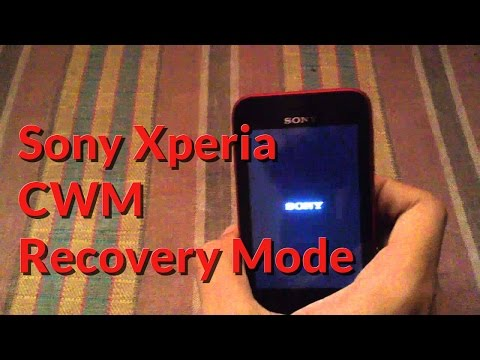 Sony Xperia CWM Recovery Mode