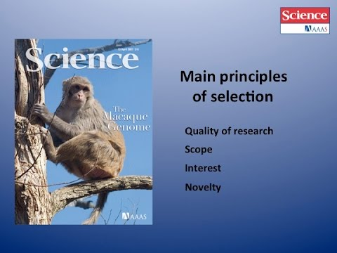 Getting Published in the journal Science