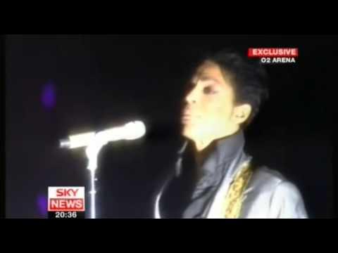 PRINCE Live at the O2 Arena London 21st Sept 2007 SKY NEWS
