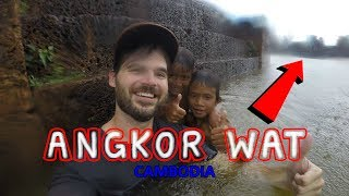 I JUMPED INTO THE MOAT! - Angkor Wat, Siem Reap, Cambodia
