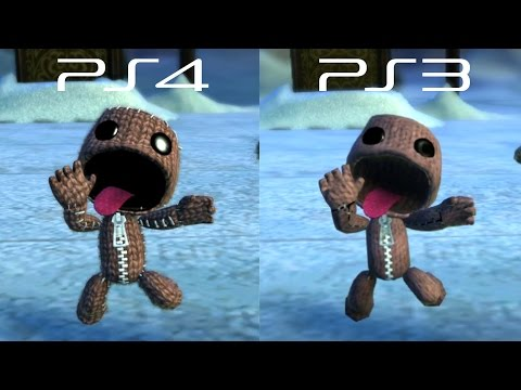 LittleBigPlanet 3 BETA - PS3 VS PS4 Graphics Comparison - LBP3