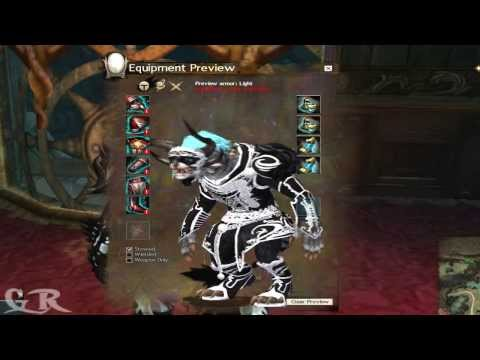 Guild Wars 2 Light Ascended Armor's All Races Preview
