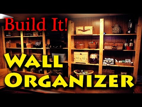 DIY Wall Storage Shelves Organizer - Free plans Included!