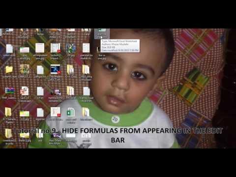 Microsoft Excel. Tutorial no 9. HIDE FORMULAS By Khezer Mustafa in Hindi/ Urdu