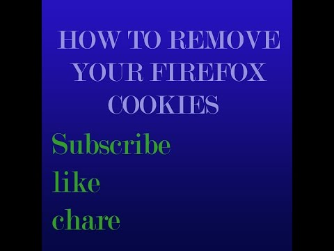 how to remove individual cookies on firefox browser