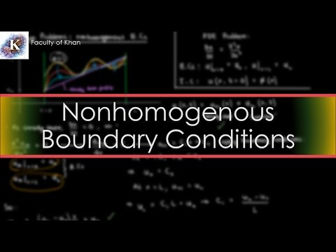 Solving the 1-D Heat/Diffusion PDE: Nonhomogenous Boundary Conditions