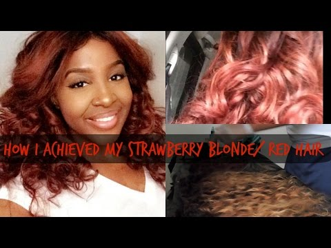How I Achieved My STRAWBERRY BLONDE/ RED HAIR| Aliexpress Maxine Hair