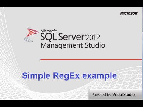 SQL Server Management Studio Basic RegEx Replace