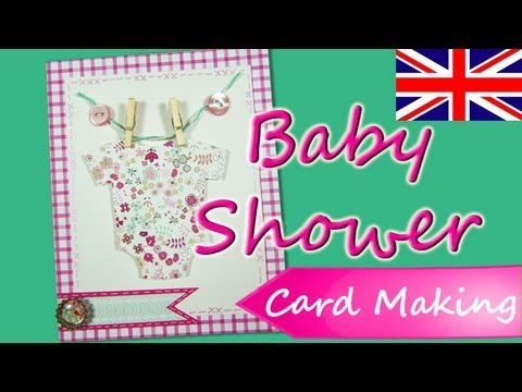 Baby Shower Invitations *Baby Party Invitations* DIY Scrapbook Ideas Scrap Card Making Mathie
