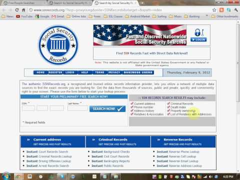 Social Security Number Search - How to Find People by Social Security Numbers