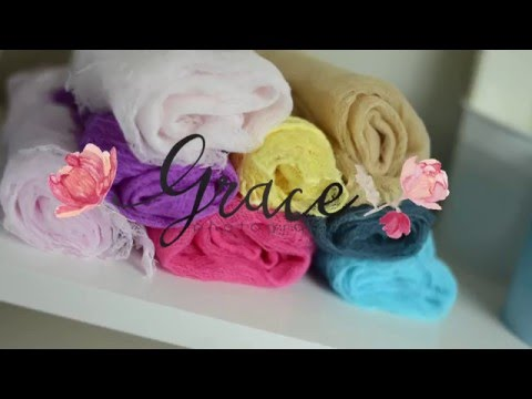 DIY Newborn Cheesecloth Wraps For Photoshoots
