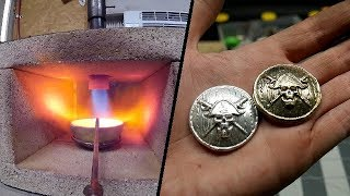 Casting PIRATE COINS in Pure Silver & Brass!