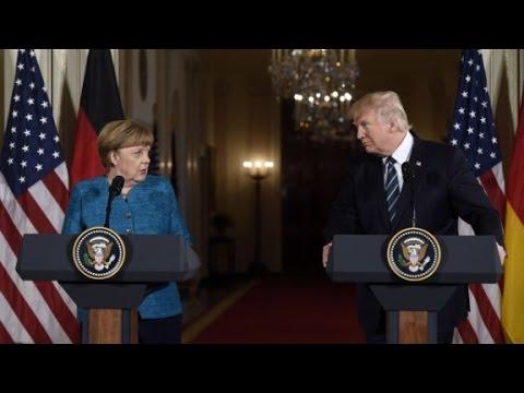 President Donald Trump hosts Angela Merkel at White House