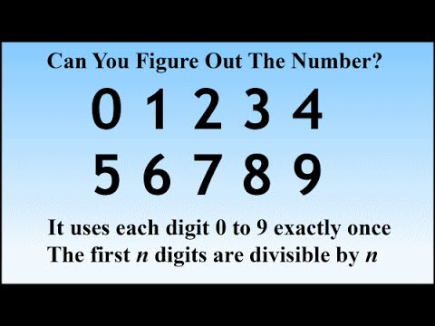 Find The 10 Digit Number Classic Puzzle And Solution