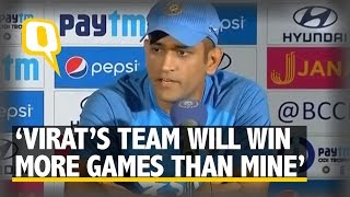 "The Quint: ""Virat's Team Will Win More Matches Than Mine,"" Says MS Dhoni"