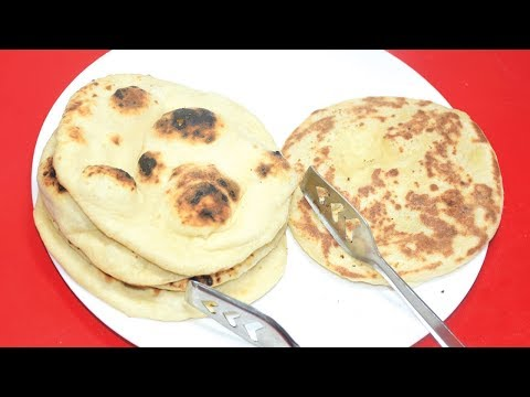 Tawa Naan Recipe - How to Make Naan Without Yeast And Tandoor - Homemade Naan On Gas Stove