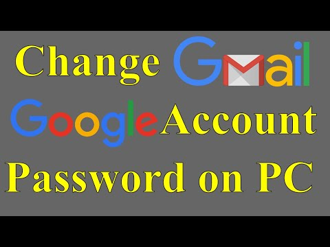 How to Change Gmail / Google Account Password on PC in Hindi