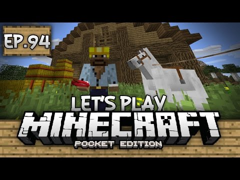 Survival Let's Play Ep. 94 - TAMING HORSES & BUILDING STABLES!!! - Minecraft PE (Pocket Edition)