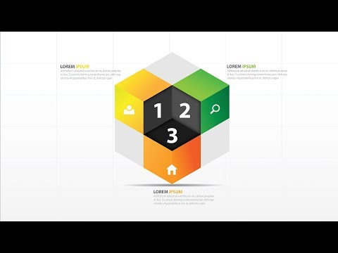 Illustrator CC Tutorial | 3D Graphic Design |3d Cube Infographic