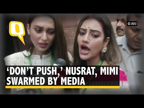 Xxx Mp4 'Don't Push ' Media Swarms MPs Mimi Chakraborty Nusrat Jahan After They Take Oath The Quint 3gp Sex