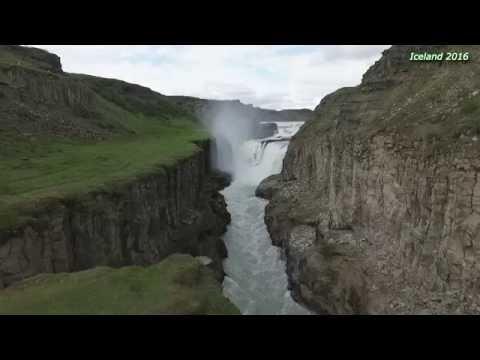 Iceland - Blaskogabyggd - Gullfoss waterfall, Drone - Phantom 3 Pro, 2016