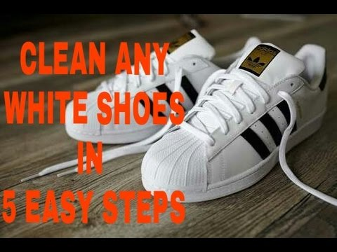 How to clean any white shoes in 5 easy steps HINDI