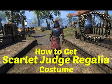ESO: How to Get the Scarlet Judge's Regalia Costume! (Free)