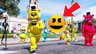 TOY ANIMATRONICS vs GIANT EVIL PACMAN! (GTA 5 Mods For Kids FNAF Funny Moments) RedHatter