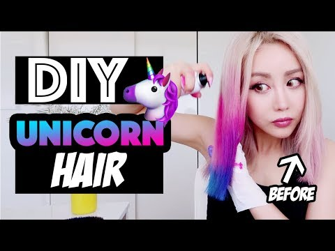 DIY Unicorn Hair Tutorial | Wengie | Easy & Washable!!