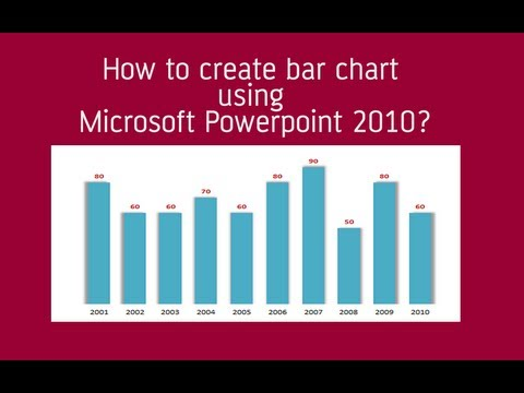 How to create beautiful bar graph | column chart in microsoft powerpoint 2010