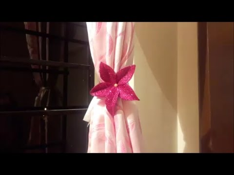 HOW TO MAKE BEAUTIFULL CURTAIN HOLDER