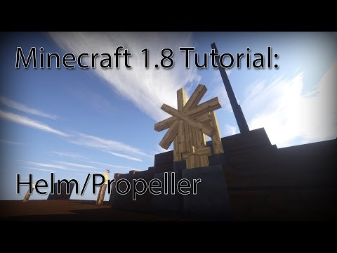 Minecraft 1.8 Simple Command Block Tutorial - Basic Helm/Propeller made with Armor Stands