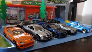 Brian's Fast & Furious Cars Collection - Hot Wheels on Tomica Playsets トミカ
