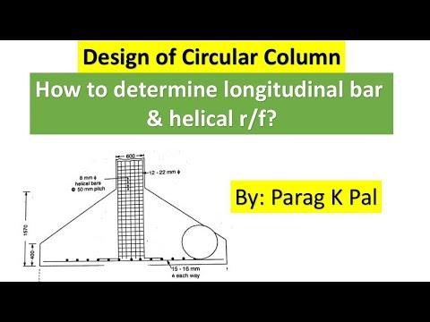 Design of circular column using IS 456-2000 by Parag Kamlakar Pal.