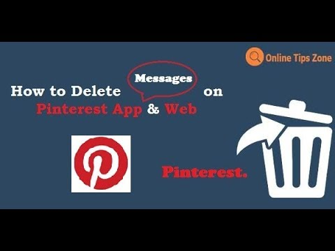 How to delete Pinterest Messages