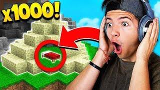 OP 1,000 ENDSTONE BED DEFENSE! (Minecraft Bedwars)