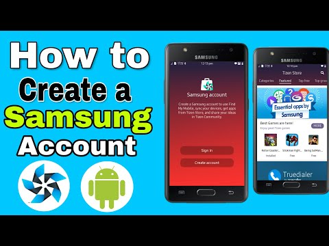 How to create a Samsung account in hindi | Tizen or Android