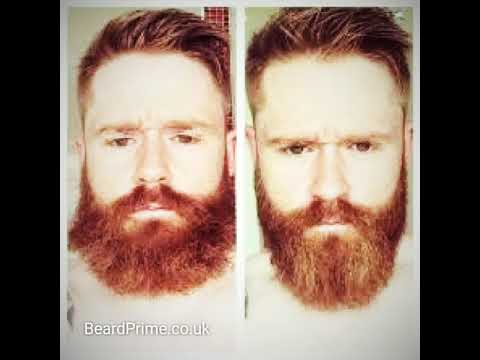 Before and after using beard balm