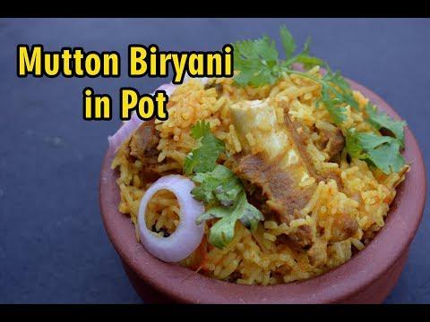 Clay pot mutton briyani | மண் சட்டி மட்டன் பிரியாணி  | Mutton Biryani Recipe in Tamil